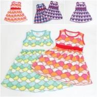 Váy hoa văn vảy cá đáng yêu!