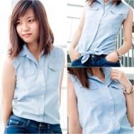 Áo sơ mi nữ vải jean, cá tính và phong cách