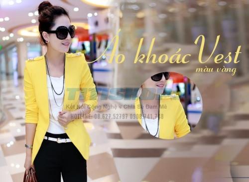 Mua Hàng VIP - Nhommua Fashion NEW Ao khoac vest dinh nut vai