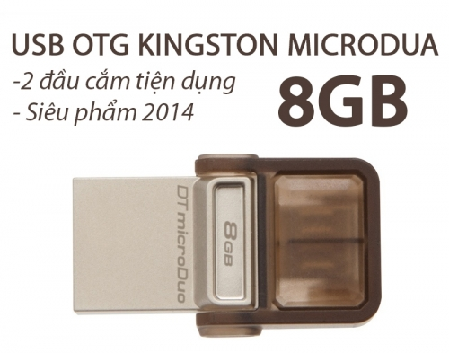 Mua Hàng VIP - USB OTG KINGSTON 8G MICRO DUO 2 DAU