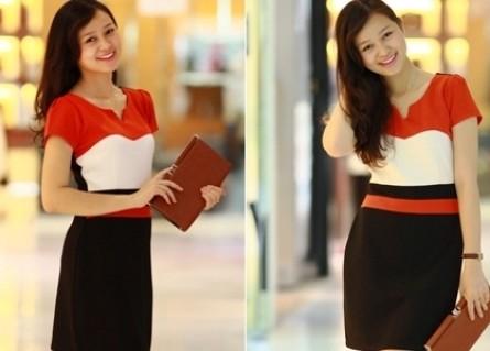 Đầm xòe 3 màu quý phái cho nữ văn phòng Thêm xinh xắn, ngọt ngào và đáng yêu cho bạn gái