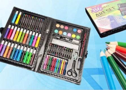 Bộ bút chì màu 86 món NEW 2013 CHO BÉ THỎA THÍCH TÔ thỏa sức sáng tạo qua những nét vẽ giúp bé học và chơi