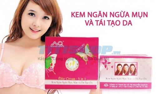 Mua Hàng VIP - Kem ngan ngua mun ,Nam va tai tao Da Elite Cream 3 IN 1