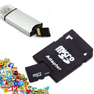 Mua Hàng VIP - Combo the nho MicroSDHC 8GB va Adapter - BH 12 thang