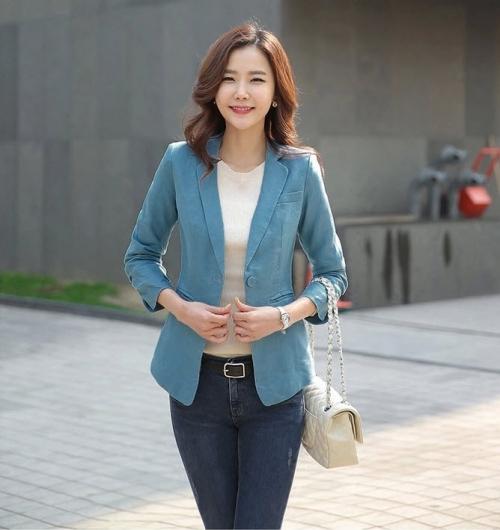 Mua Hàng VIP - Ao khoac vest Kaki AKVN83 (xanh ) Co lot CAO CAP