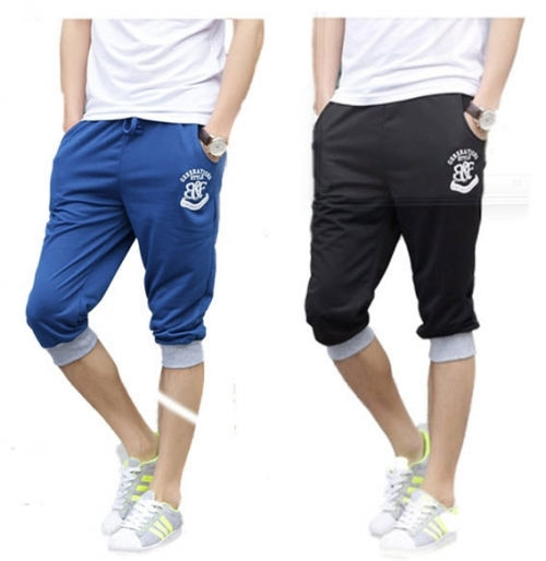 Mua Hàng VIP - Bo 2 quan shorts lung the thao nam Titishop QS43 (Den xanh la)