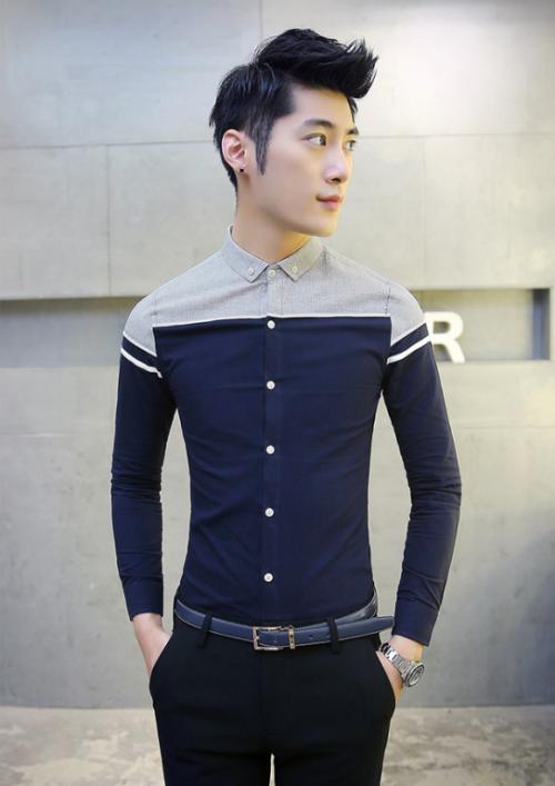 Mua Hàng VIP - Ao so mi nam body SM251 Thun co gian