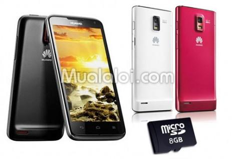 Điện thoại di động Huawei U9200E P1 XL, tặng thẻ nhớ 8GB