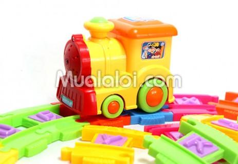 Tàu lửa chạy trên đường ray chữ cái, đồ chơi thông minh