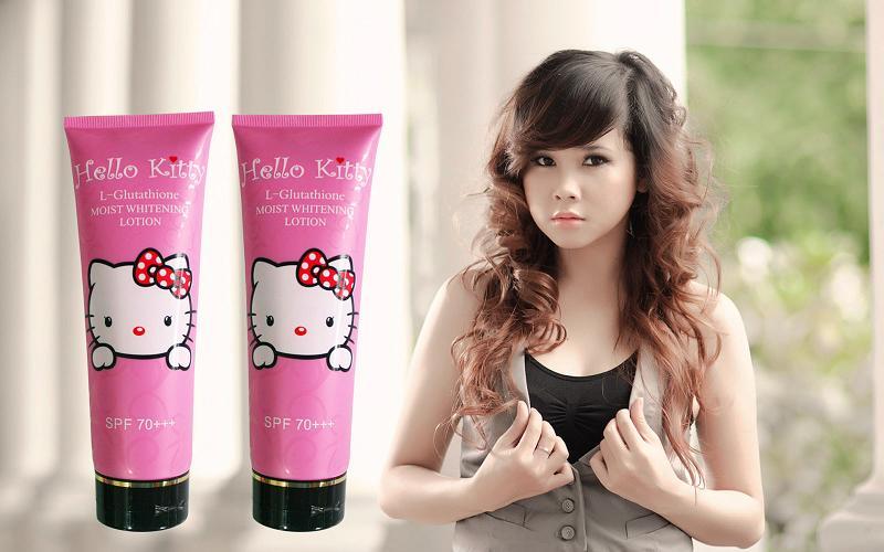 Kem dưỡng trắng body HELLO KITTY Nhật Bản Whitening Cream : Làn da...