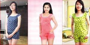 Bộ đồ thun mặc nhà chất liệu cotton thoáng mát, kiểu dáng trẻ trung. Cho bạn gái thêm xinh xắn, đáng yêu ngay cả khi ở nhà. Chỉ 62.000Đ có tại Muatichluy.com
