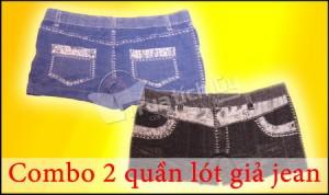 Combo 02 quần lót giả jean kiểu sort ngắn, chất liệu thun co giãn, ôm sát gợi cảm. Chỉ với 65.000Đ tại Muatichluy.com