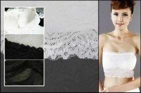 Áo ống hoa văn ren - có đệm ngực cho vòng một thêm đầy đặn, quyến rũ. Chỉ với 53.000Đ tại Muatichluy.com