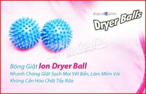 Công việc giặt giũ trở nên dễ dàng, hiệu quả hơn với bóng giặt Ion Dryer Ball – Giặt sạch mọi vết bẩn, làm mềm vải mà không cần hóa chất tẩy rửa. Chỉ 52.000Đ có tại Muatichluy.com