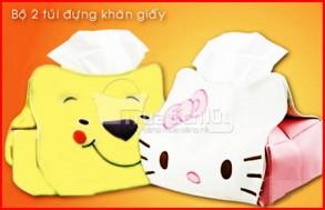 Combo 02 túi trang trí cho hộp đựng khăn giấy thêm sinh động. Chỉ với 48.000Đ tại Muatichluy.com