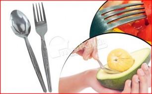 Bộ sản phẩm gồm 12 muỗng & 12 nĩa - Chất liệu inox cao cấp, không gỉ, sáng bóng – An toàn cho sức khỏe. Chỉ 70.000Đ tại Muatichluy.com