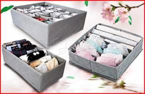 Chỉ 77.000Đ tại Muatichluy.com, bạn có ngay 3 hộp đựng đồ lót tiện dụng. Chất liệu vải dày dặn, giúp sắp xếp tủ quần áo gọn gàng, ngăn nắp. - Gia Dụng