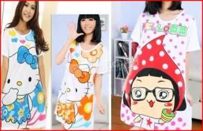 Đầm ngủ hoạt hình, chất liệu thun cao cấp, thoáng mát, kiểu dáng thời trang. Chỉ 68.000Đ tại Muatichluy.com