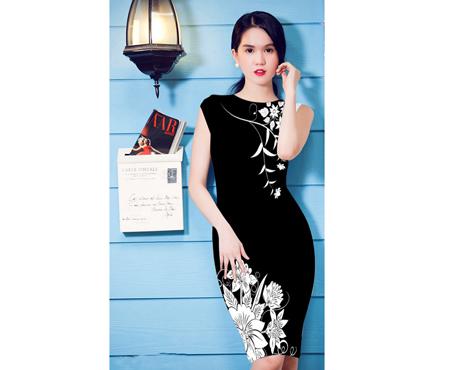 Đầm in 3D hoa đồng nội - MD1361