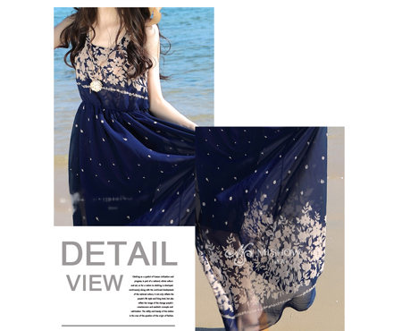 Đầm maxi xanh đen - MD1409