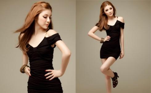 Đầm bodycon đen rớt vai, tôn vẻ đẹp cơ thể, giá chỉ 140.000đ