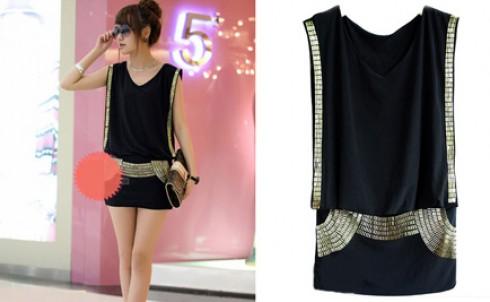 Đầm đính cườm, phong cách thời trang mới, giá chỉ có 155.000đ - MD71
