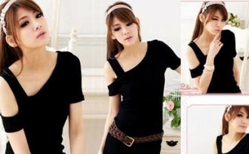 Áo form dài rớt vai kèm dây nịt cho bạn gái, giá chỉ 125.000đ