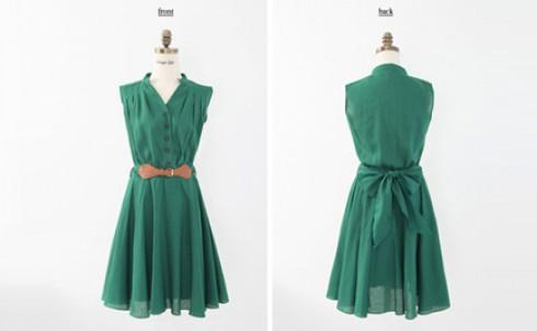 Đầm xòe thắt lưng phong cách Vintage kèm dây nịt giá chỉ có 185.000đ - MD54