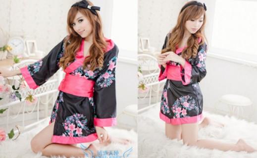 Váy ngủ phi bóng phong cách Nhật Bản