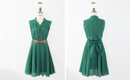 Đầm xòe thắt lưng phong cách Vintage
