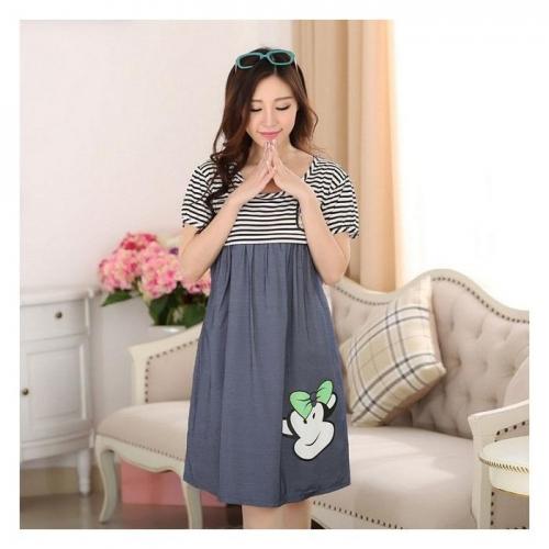 Váy Giả Jean Bầu Kết Hợp Cho Con Bú NX920
