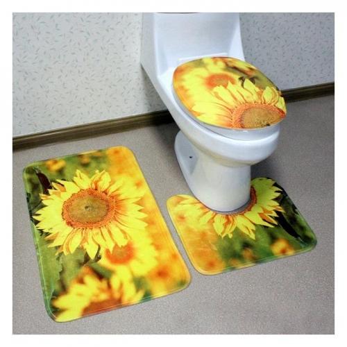 Bộ Thảm 3D Chống Trượt Toilet NĐX1178