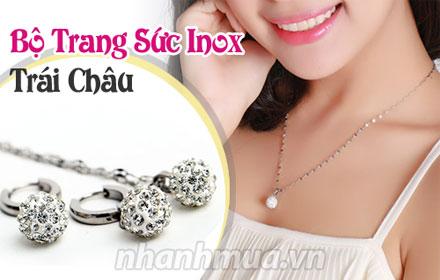 Nhanh Mua - Rang ro va duyen dang cung Bo trang suc trai chau dinh hat sang trong – chat lieu i...