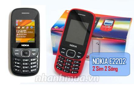 TP.HCM: Nhân đôi sự tiện lợi với Điện thoại Nokia 2 sim E2202 – 2 sim 2 sóng, màn hình màu ...