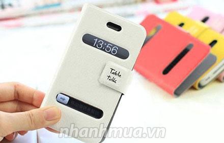 Bảo vệ tối ưu cho dế yêu với Bao da thông minh Table Talk cho Iphone 4/4S – chất li...