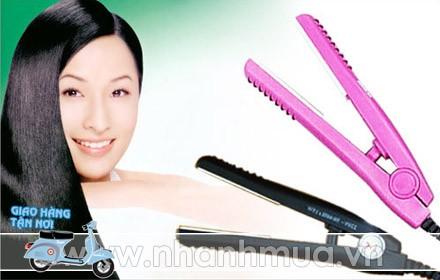 """Máy uốn, duỗi tóc mini """"2 in 1"""" cho bạn mái tóc phong cách mới mỗi ngày!"""