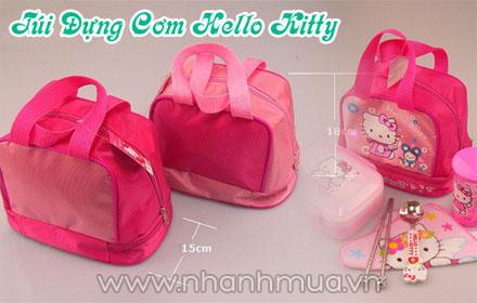 Tiện lợi và xinh xắn cùng Túi đựng cơm 2 tầng Hello Kitty đa năng – chất liệu cao c...