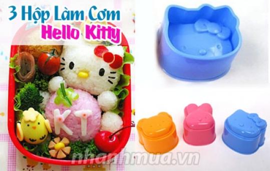 TP.HCM: Sáng tạo những món ăn hấp dẫn và ngộ nghĩnh với 3 Khuôn làm cơm Hello Kitty – chất ...
