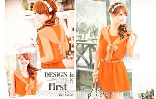 Nổi bật, mềm mại, quyến rũ cùng Đầm Voan MiMi Hàn Quốc – kiểu dáng thắt nơ phá cách...