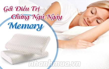 Điều trị chứng ngáy ngủ với Gối chống ngáy ngủ Memory Pillow – chất liệu Memory Foa...