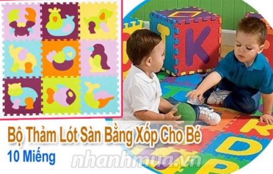 Bảo vệ bé, cho bé không gian vui chơi thỏa thích với 10 Miếng thảm xốp lót sàn hoạt...