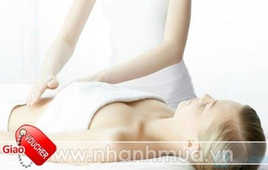 60 phút Massage giảm mỡ bụng bằng máy đốt mỡ bụng và Kem SUNFLOWER Pearl - Paris ch...