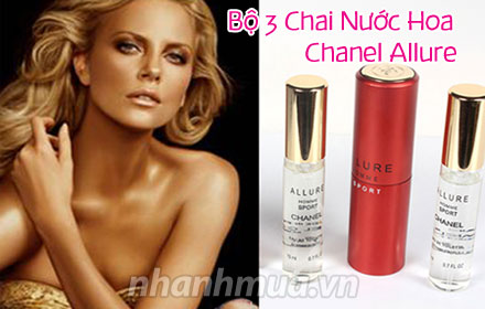 Nhanh Mua - Nong nang, say dam cung Bo 03 Chai nuoc hoa Chanel Allure Homme Sport – huong thom ...
