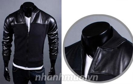 Phong cách mạnh mẽ và lịch lãm cùng Áo khoác Men Fashion phối da cao cấp – kiểu dá...