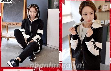 Trẻ trung và thời trang với Áo Khoác Ngôi Sao phong cách Hàn Quốc - Chất liệu nỉ dà...