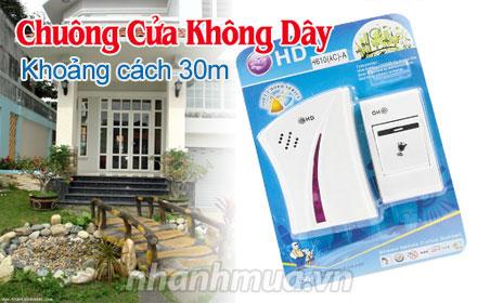 Tiện ích với Chuông cửa không dây HD cao cấp – phạm vi hoạt động 30m, dễ dàng lắp đ...