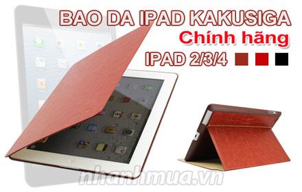 Sành điệu và trẻ trung với bao da chính hãng KaKu cho iPad 2, 3, 4 – Chất liệu da c...