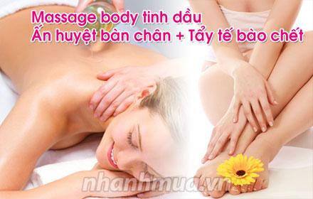 Cảm giác sảng khoái, thư thái tinh thần và phục hồi thể chất với Massage Body tinh ...