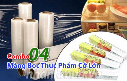 Nhanh Mua - Bao quan thuc pham tuoi ngon voi Combo 4 mang boc thuc pham co lon – su dung duoc c...