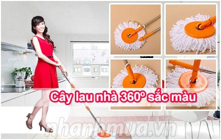 Cây lau nhà 360 độ Lady màu cam – Giúp công việc lau dọn trở nên nhẹ nhàng và dễ dà...